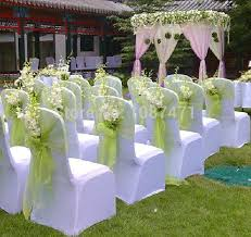 chair covers and sashes 25 pcs lot wedding organza chair cover sashes sash party banquet
