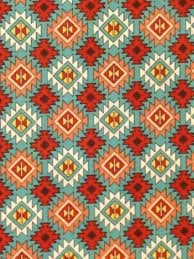 teal cranberry native american cotton fabric by scizzors on etsy