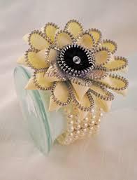 Wrist Corsage Bracelet Zipper Gerbera Wrist Corsage Bracelet Habercraftey Jewelry