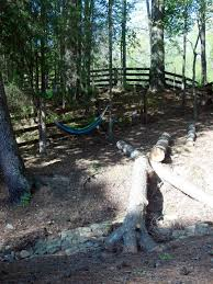 imperfectly possible backyard woodland play area