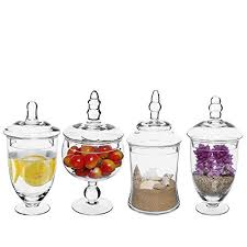 Clear Glass Vases With Lids Candy Vases Amazon Com