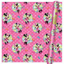minnie mouse christmas wrapping paper disney minnie mouse pink gift wrap health personal care
