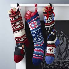 hand knitted christmas stocking by chunkichilli