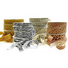 printed ribbon animal printed ribbon zebra leopard giraffe designs box and