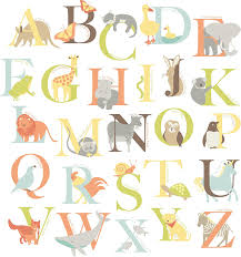 Letter Wall Decals For Nursery Wall Pops Wpk0835 Wpk0835 Alphabet Zoo Kit Baby Wall Decals