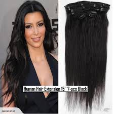 human hair clip in extensions human hair extensions in 15 7pcs jet black trade me