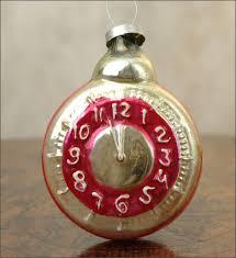 antique kugel ornament clock at christmas4ever