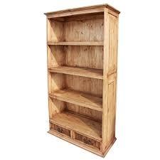 rustic pine collection largeclassic bookcase lib13