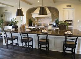 Large Kitchen Islands With Seating Enchanting Large Kitchen Island Decor Idea With Black Seating