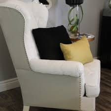 white wing chair slipcover furniture best wingback chair for your home byjohnbrandon com
