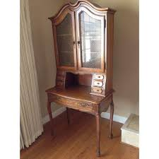vintage thomasville maple secretary desk with hutch and
