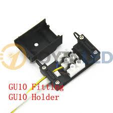 10pcs lot gu10 socket base connector ceramic holder lamp wiring