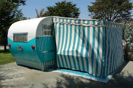 Vintage Travel Trailer Awnings Vintage Aljoa Trailer Pictures And History From Oldtrailer Com