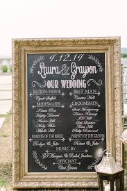 chalkboard wedding program wedding program sign chalkboard wedding program signrustic wedding