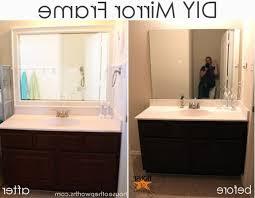 Bathroom Mirror Trim by Build Bathroom Mirror Frame Framed Mirrors Wall Around A For
