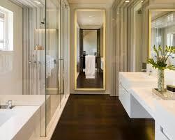 Modular Bathroom Designs by Sweet U0026 Modern Glosssy White Vanity Toned Down With Rich Wood