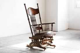 Antique Pressed Back Rocking Chair Sold Antique Chesterfield Captains Chair In Oak And Leather