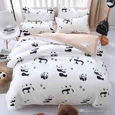 Duvet Cover Double Bed Size Cartoon Panda Bedding Set Black White Duvet Cover Bed Set Single