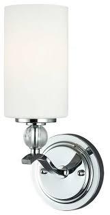 Traditional Bathroom Vanity Lights Englehorn 1 Light Chrome Optic Crystal Traditional Bathroom