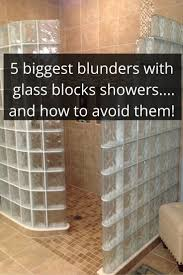 Glass Block Designs For Bathrooms by 228 Best Glass Block Showers Images On Pinterest Glass Block