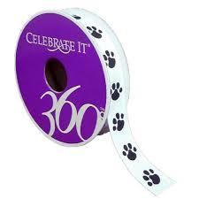 paw print ribbon 5 8 grosgrain paw print ribbon by celebrate it 360