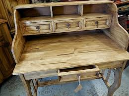 rustic pine writing desk mexican pine secretary s desk lira marisol imports mexican pine