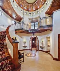 Newel Post Cap Ideas Entry Mediterranean With Curved Staircase