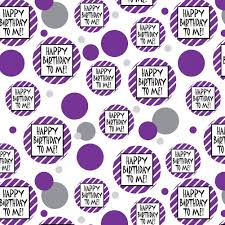 premium gift wrap wrapping paper roll pattern happy birthday to me