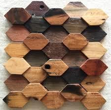 Hexagon Backsplash Tile by Natural Wood Mosaic Tile Nwmt052 Hexagon Shaped Wood Mosaic