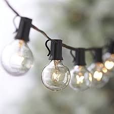 100ft g40 string lights 5 spare bulbs 105 edison