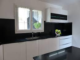 plan de travail cuisine noir pailleté realisation 54 moble