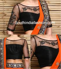 net blouse pattern 2015 boat neck net embroidered blouse blouse designs boat neck and saree