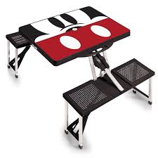 Portable Folding Picnic Table Disney Discovery Mickey Mouse Portable Folding Picnic Table