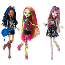 nib 3 monster high dolls rochelle goyle venus mcflytrap