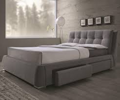 fenbrook upholstered bed with storage drawers