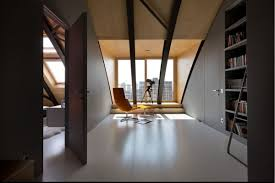 Home Loft Office Cozy Loft With An Arched Ceiling And A Masculine Vibe