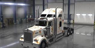 rusty kenworth w900 truck skin ats mod american truck