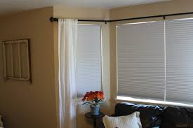double curtain rods for corner windows home decoration ideas