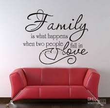 Family Love Wall Quote Decal Decor Sticker Lettering Saying Vinyl