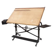 Keuffel Esser Drafting Table Antique Adjustable Keuffel And Esser Cast Iron Drafting Table At