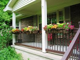 astounding porch rail planters remodelling in patio view or other