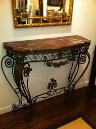 Wrought Iron Console Table 1930s Wrought Iron Console Table Wrought Iron Console Table