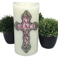 flameless candle christian home decor religious gift led