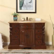 48 Inch Bathroom Vanities by Accord 48 Inch Single Sink Bathroom Vanity Roman Vein Cut