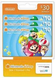eshop gift cards free 30 nintendo 10 x 3 eshop gift cards for nintendo 3ds