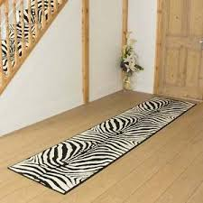 Zebra Runner Rug Zebra Black Hallway Carpet Runner Rug Mat For