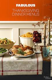 Thanksgiving Traditional Meal Thanksgiving Dinner Menus
