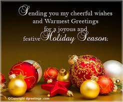 sending you my cheerful wishes happy holidays cards
