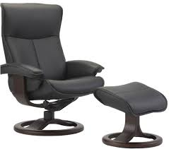 Chair And Ottoman Fjords Senator Ergonomic Leather Recliner Chair Ottoman