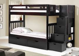 Wooden Bunk Bed With Futon Sam S Club Futon Bunk Bed Twin Country Pine Matte Black 1 Sams